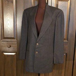 Giorgio Armani Le Collezion grey wool blazer 40L